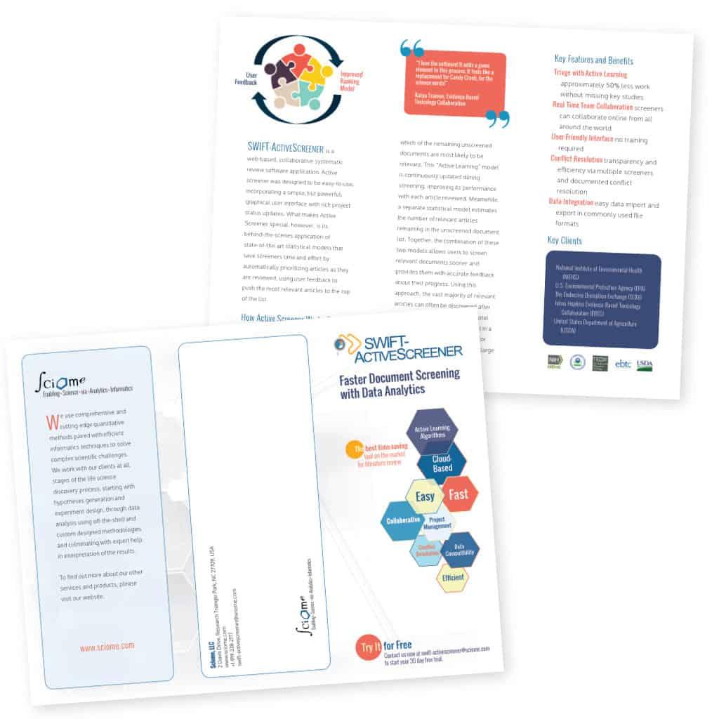 SWIFT ActiveScreener Brochure - click to view pdf version