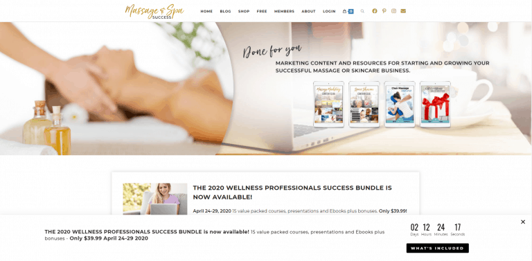 Massage and Spa Success homepage