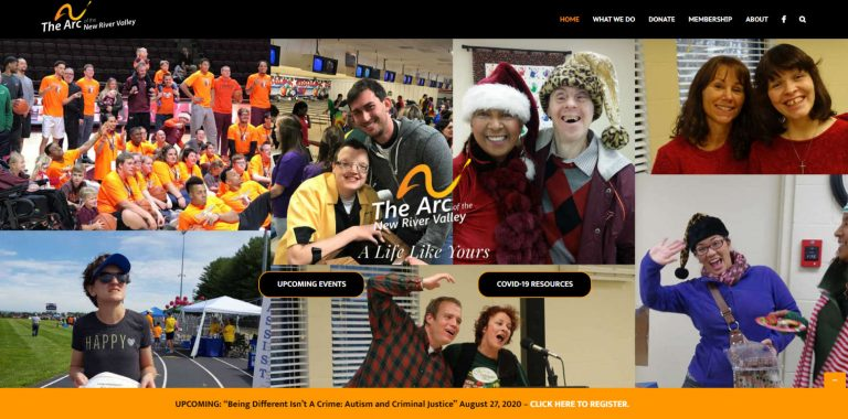 The Arc of the New River Valley (client site)